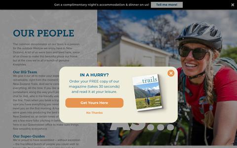 Screenshot of Team Page newzealandtrails.com - Our Guides - New Zealand Trails - captured Aug. 12, 2018