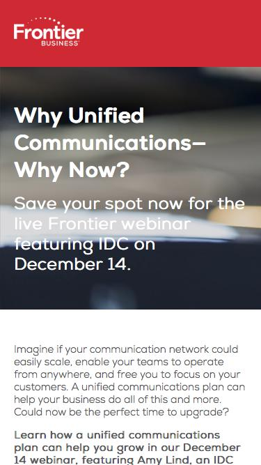 Live Webinar: Help Your Business Grow with Unified Communications
