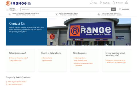Screenshot of Contact Page therange.co.uk - Contact Us - captured June 29, 2017