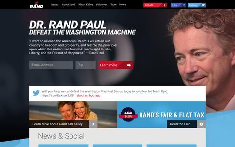 Screenshot of Home Page randpaul.com - Rand Paul for President - captured Dec. 2, 2015