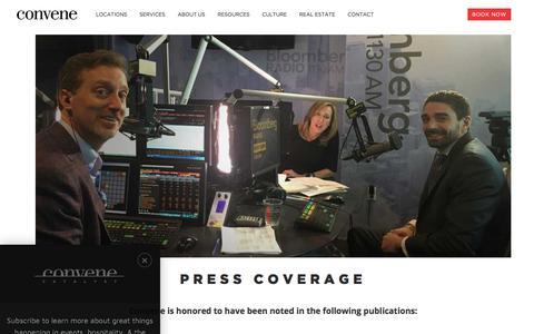 Screenshot of Press Page convene.com - Press Page - Convene - captured Oct. 11, 2017