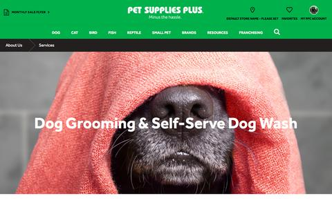 Screenshot of Services Page petsuppliesplus.com - Dog Wash and Grooming Services - captured Feb. 17, 2018