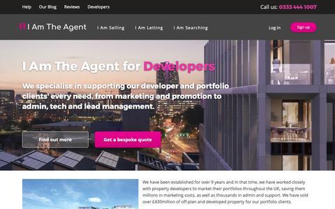 Screenshot of Developers Page iamtheagent.com captured Nov. 5, 2018