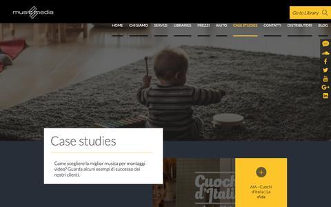 Screenshot of Case Studies Page musicmedia.it - Case studies - Musicmedia - captured Oct. 26, 2017