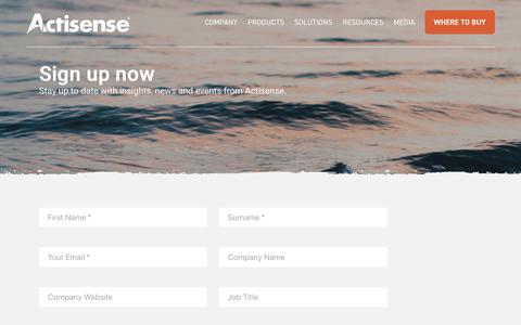 Screenshot of Signup Page actisense.com - Newsletter | Actisense - captured Oct. 3, 2018