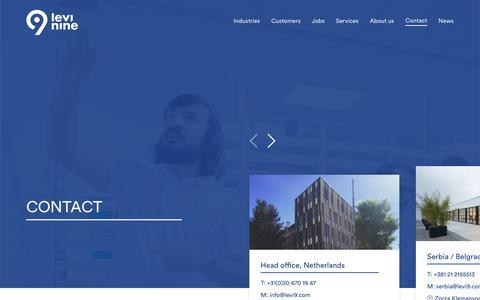 Screenshot of Contact Page levi9.com - Contact - Levi9 - captured Oct. 21, 2019