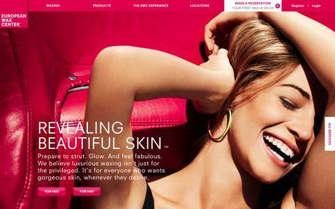 Screenshot of Home Page waxcenter.com - European Wax Center | Revealing Beautiful Skin - captured Sept. 23, 2014