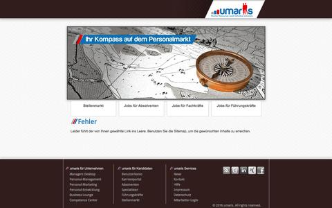 Screenshot of Privacy Page Press Page umaris.de - 404 - captured Nov. 28, 2016