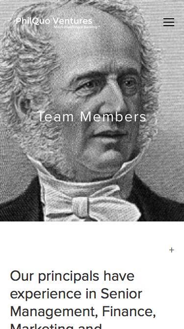 Screenshot of Team Page  philquo.com - Team — PhilQuo Ventures