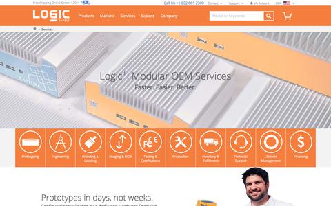 Screenshot of Services Page logicsupply.com - OEM Hardware Services  | Logic Supply - captured June 18, 2018