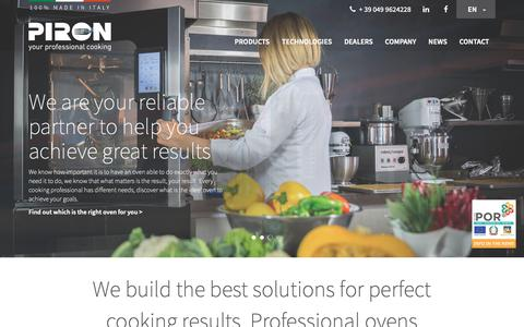 Screenshot of Home Page piron.it - Cooking systems Made in Italy | Piron - captured Sept. 28, 2018