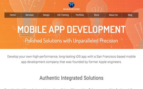 Screenshot of Services Page invasivecode.com - Mobile App Development San Francisco - captured Jan. 9, 2016