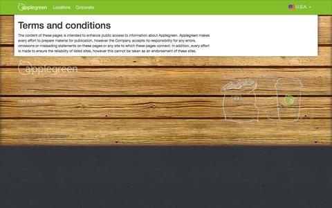 Screenshot of Terms Page applegreenstores.com - Terms - captured Nov. 1, 2014