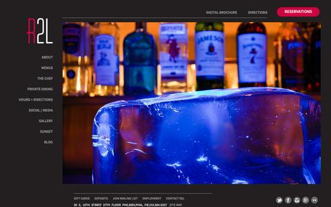 Screenshot of Home Page r2lrestaurant.com - R2L Restaurant  R2L   Traditional American Cuisine with a Modern Twist - captured Oct. 20, 2016