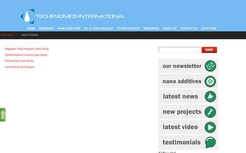 Screenshot of Case Studies Page techenomics.net - Case Studies - techenomics.net - captured Dec. 20, 2018