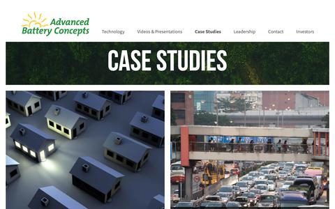 Screenshot of Case Studies Page advancedbatteryconcepts.com - Case Studies – Advanced Battery Concepts - captured Oct. 19, 2018