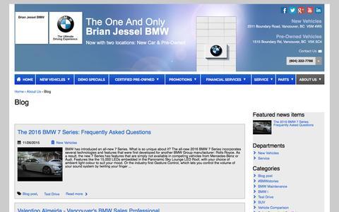 Screenshot of Blog brianjesselbmw.com - Blog | Brian Jessel BMW - captured March 31, 2016
