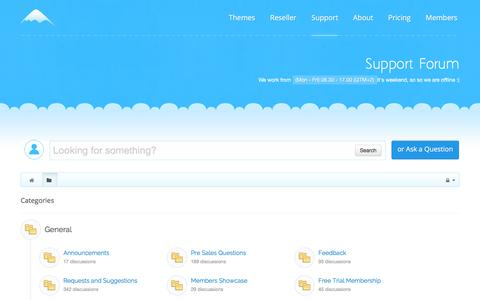 Screenshot of Support Page icetheme.com - Support Forums | IceTheme - captured Jan. 8, 2016