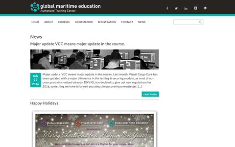 Screenshot of Press Page maritime-education.nl - News - Global Maritime Education - captured Sept. 28, 2018