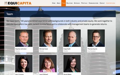 Screenshot of Team Page equicapita.com - Team - Equicapita - captured Dec. 10, 2015