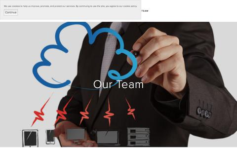 Screenshot of Team Page unimbu.com - Our Team — unimbu - captured June 18, 2017