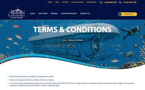 Terms & Conditions - Cayman Island Submarines Tour
