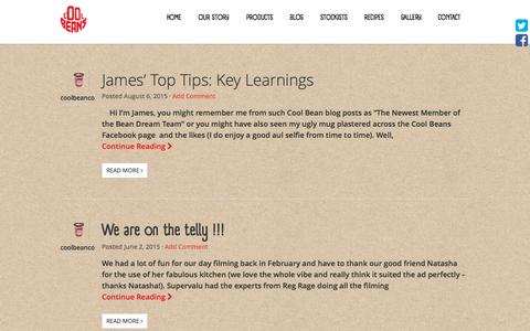Screenshot of Blog coolbeans.ie - Blog Archives - Cool Beans - captured Sept. 24, 2015