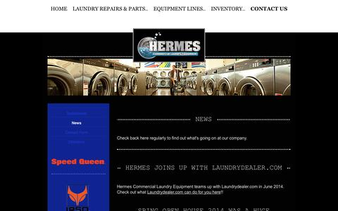 Screenshot of Press Page hermescommerciallaundry.com - News - Commercial Laundry Equipment Sales, Service, and Parts - captured Oct. 2, 2014