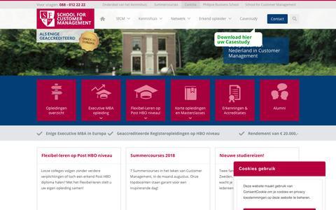 Screenshot of Home Page schoolforcustomermanagement.com - School for Customer Management - captured July 27, 2018