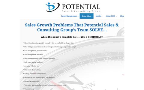 Potential Sales Group | Sales Development Problems We Solve