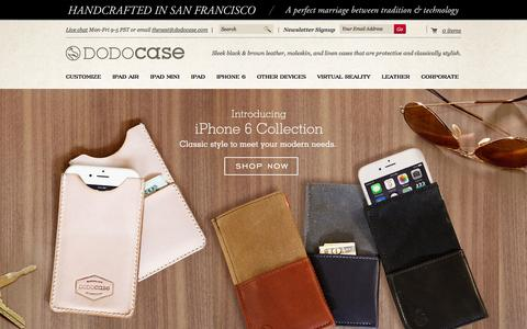 Screenshot of Home Page dodocase.com - iPad Cases & Covers for iPad Air, Mini & more | DODOcase - captured Sept. 18, 2014