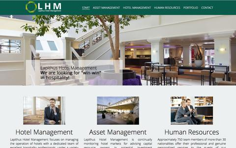 Screenshot of Home Page lhmeu.com - Lapithus Hotel Management - Start - captured Jan. 25, 2016