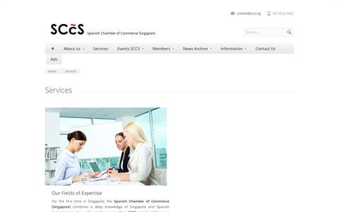 Screenshot of Services Page sccs.sg - Services - SCCS - captured Oct. 3, 2014
