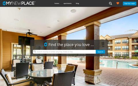 Screenshot of Home Page mynewplace.com - Search Apartments for Rent, Condos and Rental Homes | MyNewPlace - captured July 17, 2014