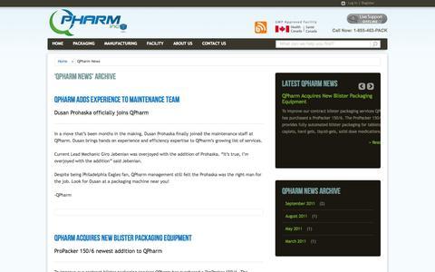Screenshot of Press Page qpharm.ca - QPharm News | QPharm - captured Oct. 1, 2014