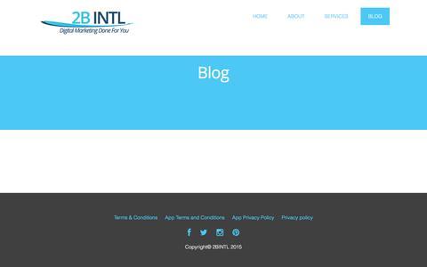 Screenshot of Blog 2bintl.com - 2B INTL | Blog - 2B INTL - captured Feb. 13, 2016
