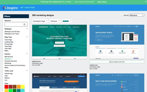 Screenshot of Developers Page crayon.co - Software Developers Pages | Website Inspiration and Examples | Crayon - captured Nov. 26, 2019