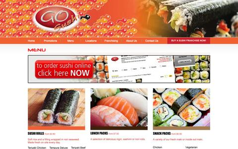 Screenshot of Menu Page gosushi.com.au - Go Sushi - Menu - captured Oct. 2, 2014