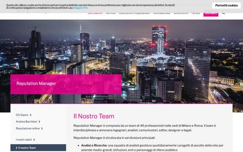 Screenshot of Team Page reputation-manager.it - Il Nostro Team - Reputation Manager - captured June 11, 2019