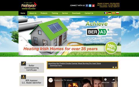Screenshot of Home Page firebird.ie - Welcome to Firebird - captured Oct. 10, 2018