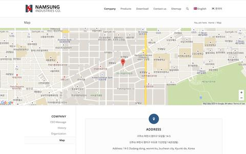 Screenshot of Maps & Directions Page nsbco.com - Map | nsbco - captured Nov. 28, 2016