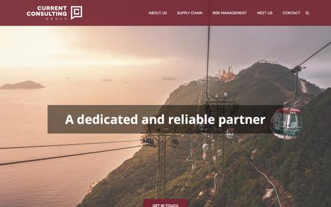 Screenshot of Home Page current-consulting.hk - Current Consulting | Current Consulting Group - captured Dec. 5, 2018