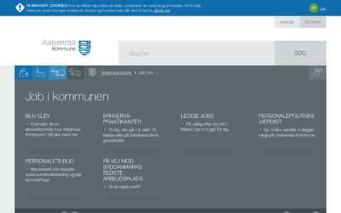 Screenshot of Jobs Page aabenraa.dk - Job i kommunen - Aabenraa Kommune - captured Nov. 2, 2014