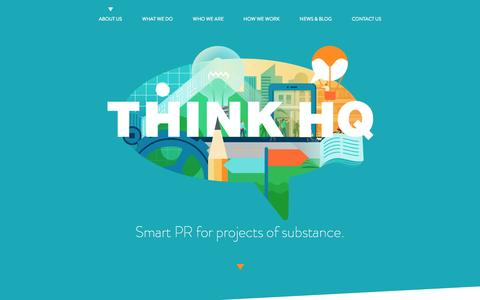 Screenshot of About Page think-hq.com.au - Home :: Think HQ - captured Nov. 5, 2014