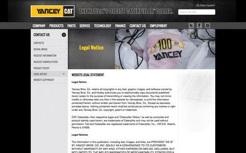 Screenshot of Terms Page yanceybros.com - Cat® YanceyBros - captured Sept. 23, 2014