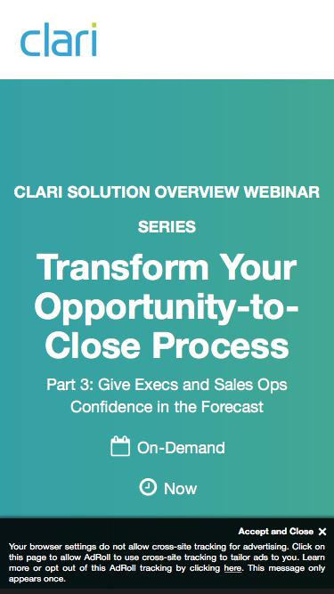 Webinar: Transform Your Opportunity-to-Close Process