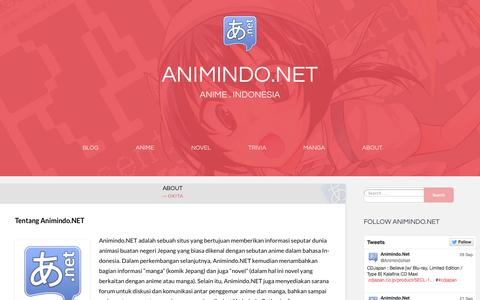 Screenshot of About Page animindo.net - About | animindo.net - captured Oct. 30, 2014