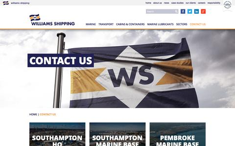 Screenshot of Contact Page williams-shipping.co.uk - Contact Us | Williams Shipping - captured Dec. 12, 2016