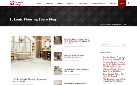 Screenshot of Blog edwardscarpet.com - St Louis Flooring Store Blog - Edwards Carpet - captured July 16, 2018