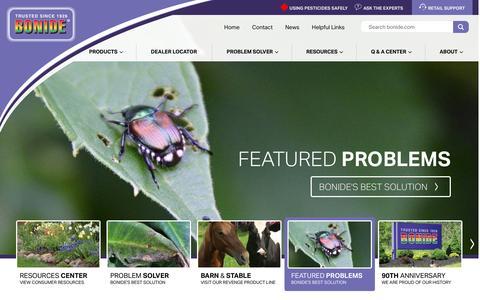 Screenshot of Home Page bonide.com - Home - Bonide - captured July 29, 2016